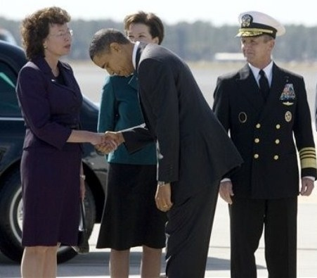 Obama bowing again!