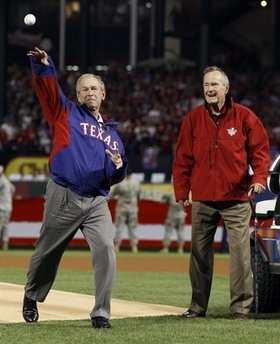 George H.W. Bush and George W. Bush-2010 World Series