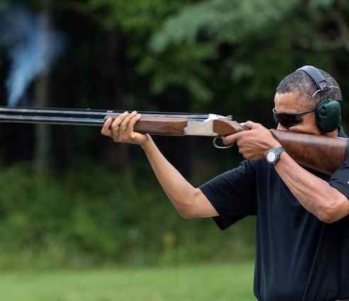 Obama and rifle