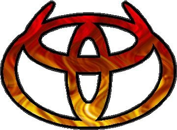Toyota with horns
