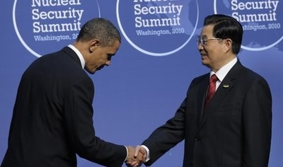 Obama bowing to Chinese President Hu Jintao too