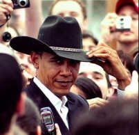 Obama in cowboy hat